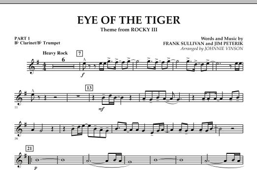 Eye Of The Tiger - Pt.1 - Bb Clarinet/Bb Trumpet (Concert Band: Flex-Band)