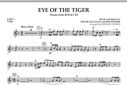 Eye Of The Tiger - Pt.1 - Violin (Concert Band: Flex-Band)