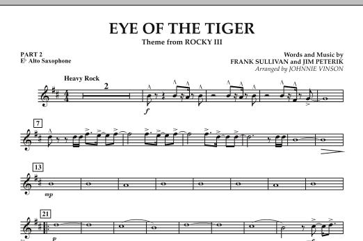 Eye Of The Tiger - Pt.2 - Eb Alto Saxophone (Concert Band: Flex-Band)