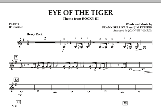 Eye Of The Tiger - Pt.3 - Bb Clarinet (Concert Band: Flex-Band)