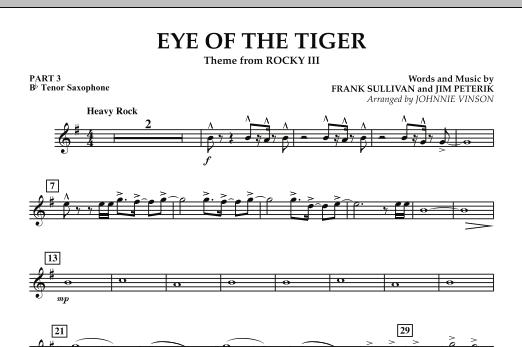 Eye Of The Tiger - Pt.3 - Bb Tenor Saxophone (Concert Band: Flex-Band)