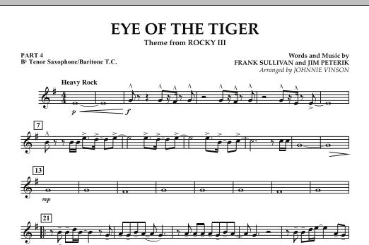 Eye Of The Tiger - Pt.4 - Bb Tenor Sax/Bar. T.C. (Concert Band: Flex-Band)