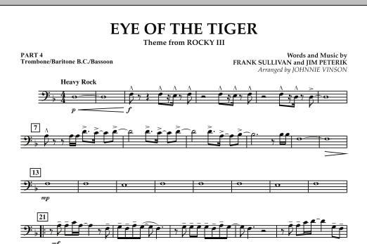 Eye Of The Tiger - Pt.4 - Trombone/Bar. B.C./Bsn. (Concert Band: Flex-Band)