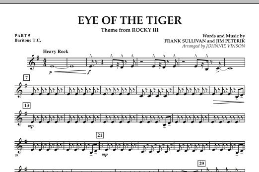 Eye Of The Tiger - Pt.5 - Baritone T.C. (Concert Band: Flex-Band)
