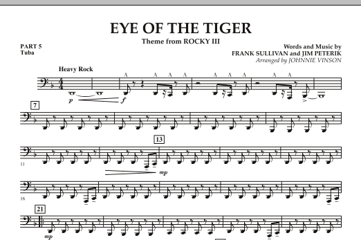 Eye Of The Tiger - Pt.5 - Tuba (Concert Band: Flex-Band)