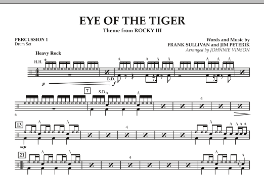 Eye Of The Tiger - Percussion 1 (Concert Band: Flex-Band)