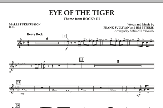 Eye Of The Tiger - Mallet Percussion (Concert Band: Flex-Band)