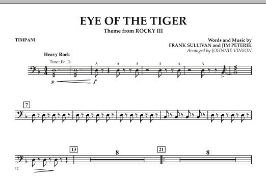 Eye Of The Tiger - Timpani (Concert Band: Flex-Band)