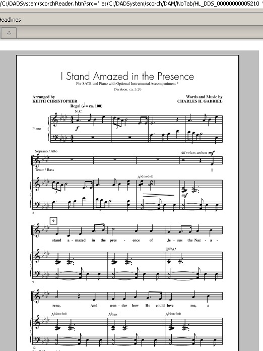 Partition chorale I Stand Amazed In The Presence (My Savior's Love) de Keith Christopher - SATB