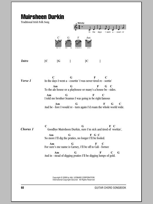 Muirsheen Durkin Sheet Music