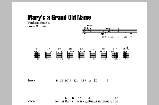 Mary's A Grand Old Name Sheet Music