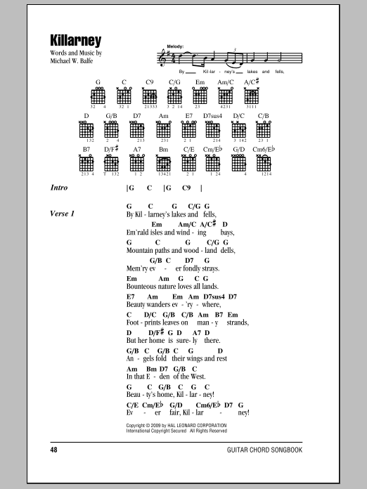 Killarney Sheet Music