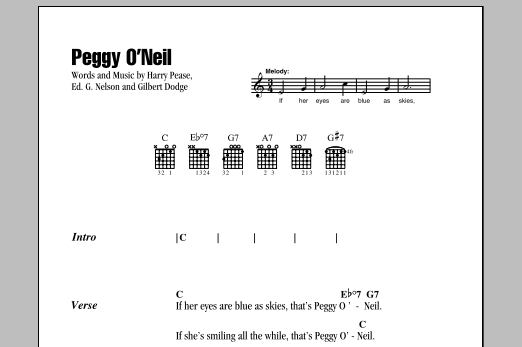 Peggy O'Neil Sheet Music