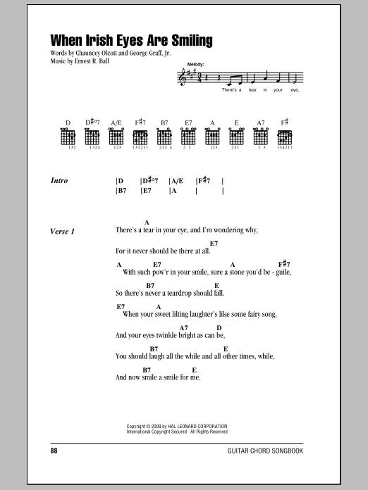 Old Fashioned Bright Eyes Guitar Chords Illustration - Beginner ...