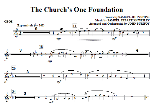 The Church's One Foundation - Oboe Sheet Music
