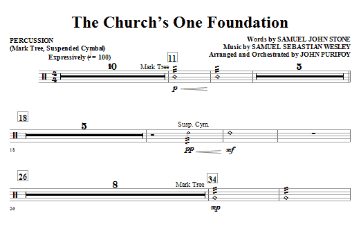 The Church's One Foundation - Percussion Sheet Music