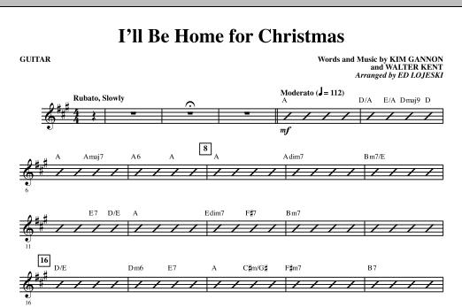 I'll Be Home For Christmas - Guitar (Choir Instrumental Pak)