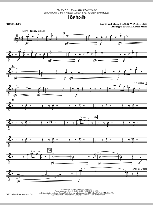 Rehab - Trumpet 2 (Choir Instrumental Pak)