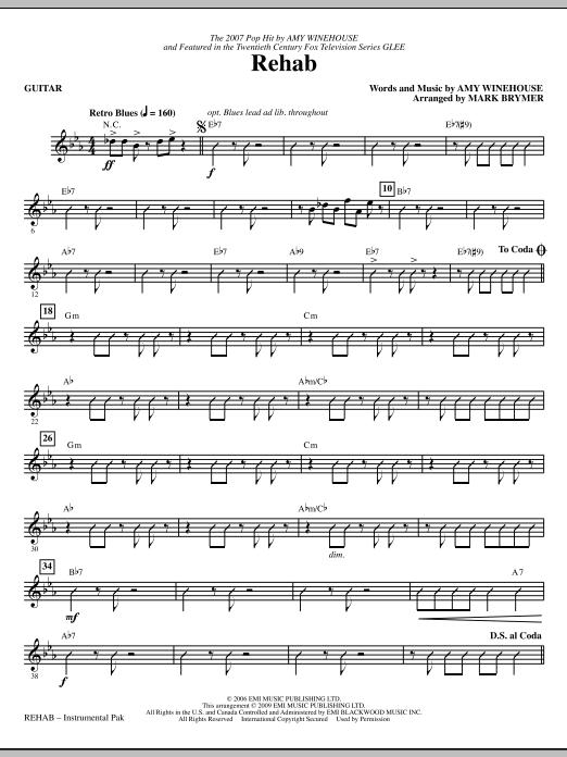Rehab - Guitar (Choir Instrumental Pak)