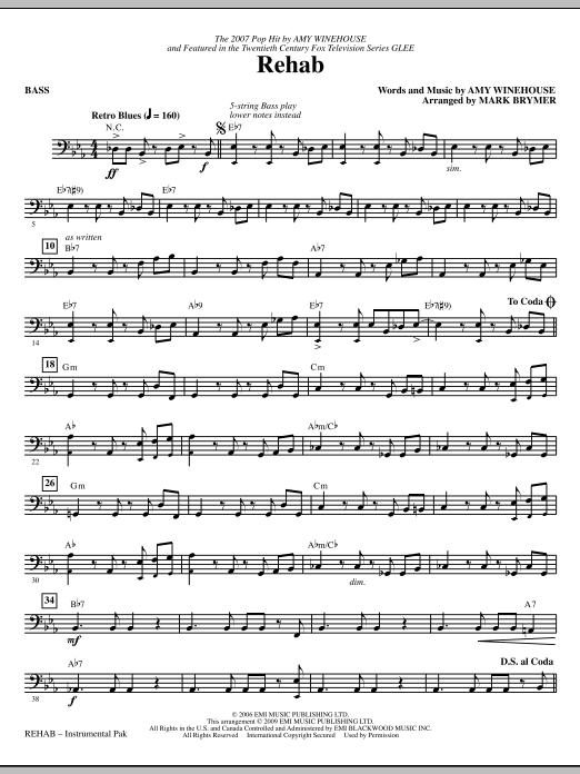 Rehab - Bass (Choir Instrumental Pak)
