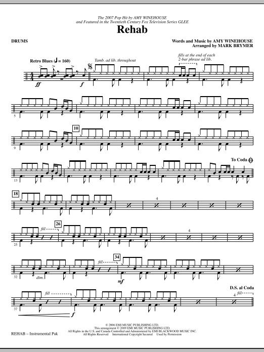 Rehab - Drums (Choir Instrumental Pak)