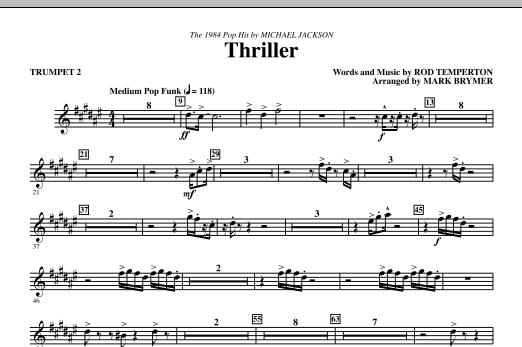Thriller - Trumpet 2 (Choir Instrumental Pak)