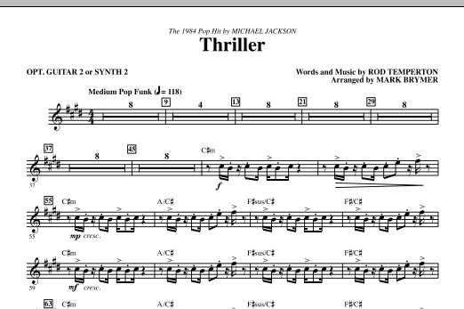 Thriller - opt. Guitar 2 or Synth 2 (Choir Instrumental Pak)