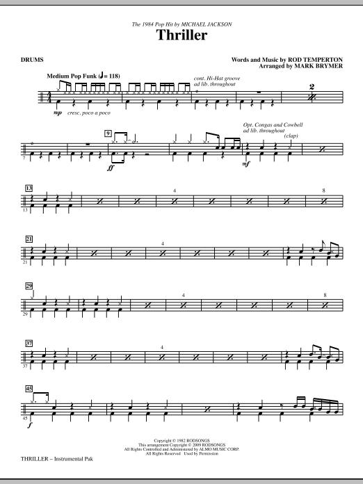 Thriller - Drums (Choir Instrumental Pak)