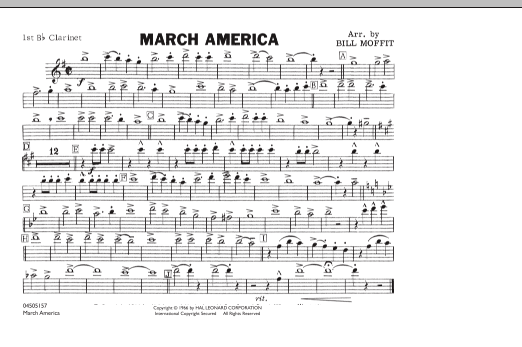 March America - 1st Bb Clarinet (Marching Band)