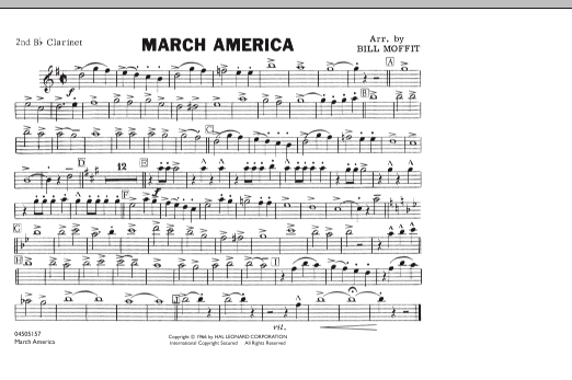 March America - 2nd Bb Clarinet (Marching Band)