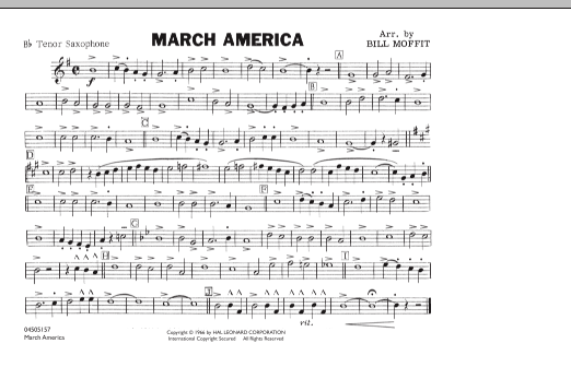 March America - Bb Tenor Saxophone (Marching Band)