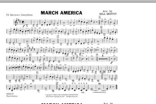 March America - Eb Baritone Sax (Marching Band)