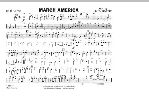 March America - 1st Bb Cornet (Marching Band)