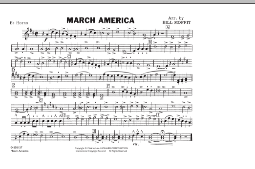 March America - Eb Horn (Marching Band)