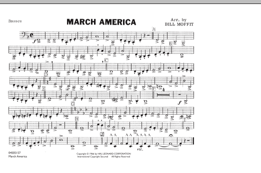 March America - Basses (Marching Band)