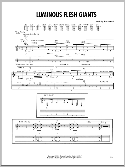 Luminous Flesh Giants Sheet Music