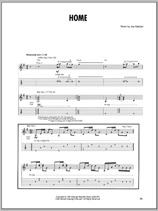 Home (Guitar Tab)