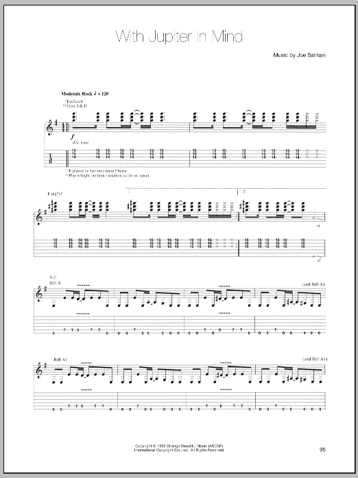 With Jupiter In Mind (Guitar Tab)