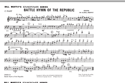 Battle Hymn Of The Republic - C Part (Marching Band)