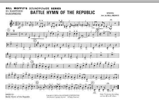 Battle Hymn Of The Republic - Eb Baritone Sax (Marching Band)