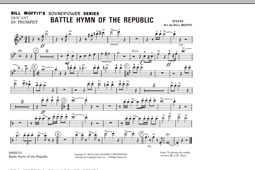 Battle Hymn Of The Republic - Descant Bb Trumpet (Marching Band)