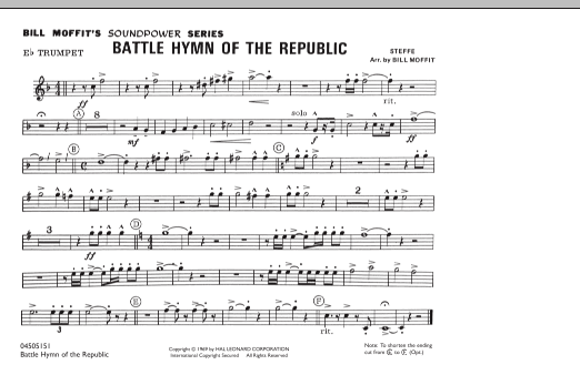 Battle Hymn Of The Republic - Eb Trumpet (Marching Band)