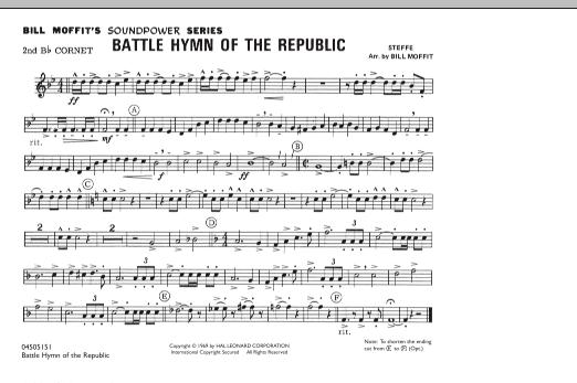 Battle Hymn Of The Republic - 2nd Bb Cornet (Marching Band)