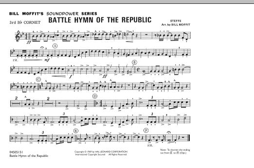 Battle Hymn Of The Republic - 3rd Bb Cornet (Marching Band)