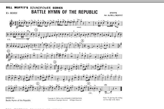 Battle Hymn Of The Republic - Eb Horn (Marching Band)