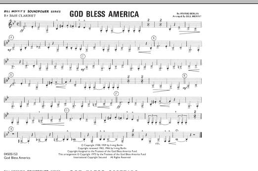 God Bless America - Bb Bass Clarinet Sheet Music | Bill