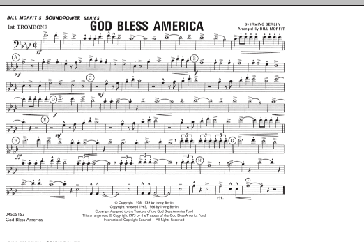 God Bless America - 1st Trombone (Marching Band)