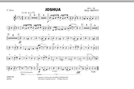 Joshua - F Horn (Marching Band)