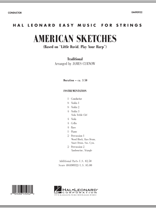 American Sketches (COMPLETE) sheet music for orchestra by James Curnow. Score Image Preview.