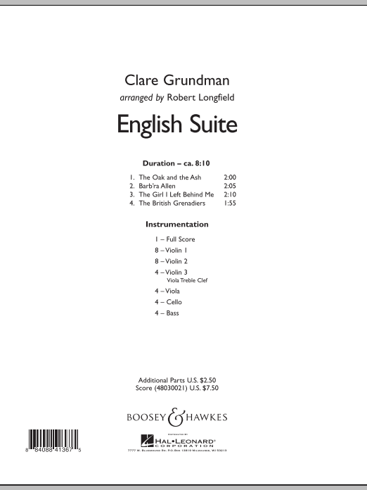 English Suite (COMPLETE) sheet music for orchestra by Clare Grundman and Robert Longfield. Score Image Preview.